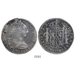 Potosi, Bolivia, bust 8 reales, Charles III, 1778PR.