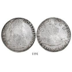 Potosi, Bolivia, 8 soles, 1837LM, encapsulated PCGS AU58.