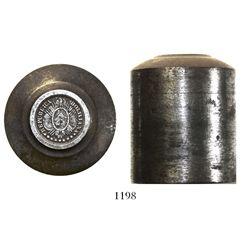 Bolivia, steel hub for 10 centavos 1884-1900, rare.