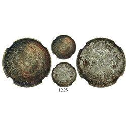China, Kwangtung Province, 10 cents (7.2 candareens), Kuang-hsu, (1890-1908), encapsulated NGC MS 65