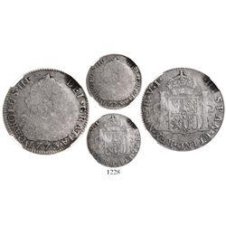 Bogota, Colombia, bust 2 reales, Charles III, 1773VJ, encapsulated NGC G 6.