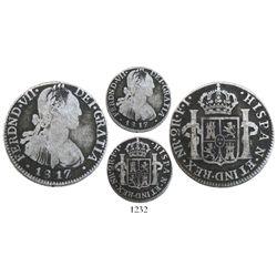 Bogota, Colombia, bust 2 reales, Ferdinand VII (bust of Charles IV), 1817FJ.
