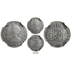 Bogota, Colombia, bust 1 real, Charles III, 1777JJ, variety with J-dot-J and N-dot-R, encapsulated N
