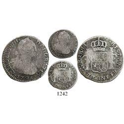 Bogota, Colombia, bust 1 real, Charles IV, 1798JJ, scarce.