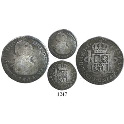 Bogota, Colombia, bust 1 real, Charles IV, 1804JJ, rare.