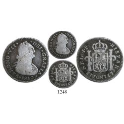 Bogota, Colombia, bust 1 real, Ferdinand VII (bust of Charles IV), 1810JF/JJ, no dot between IND and