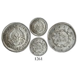 Bogota, Colombia, 1/2 real, 1840RS.