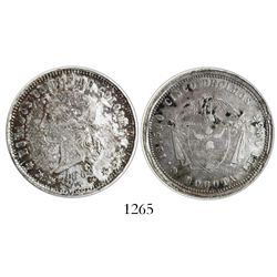 Bogota, Colombia, 5 decimos, 1869.