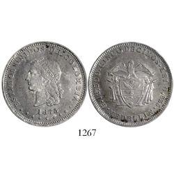 Medellin, Colombia, 5 decimos, 1875/4.