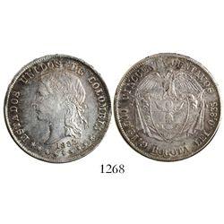 Bogota, Colombia, 50 centavos, 1885, fineness .835.