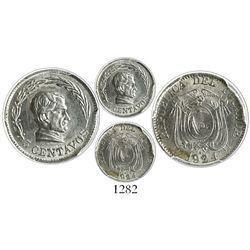 Ecuador, copper-nickel 5 centavos, 1924-H, encapsulated PCGS MS63.
