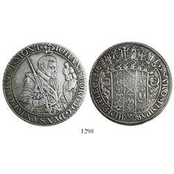 WITHDRAWN Saxony-Albertine (German States), thaler, Johann Georg I, 1655-CR.
