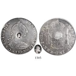Great Britain, 1 dollar (5 shillings), George III bust countermark (1797) on Potosi, Bolivia, bust 8
