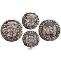 Guatemala, pillar 2 reales, Charles III, 1765P, rare.