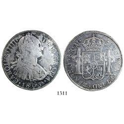 Guatemala, bust 8 reales, Charles IV, 1803M.