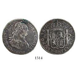 Guatemala, bust 4 reales, Charles IV, 1800M.