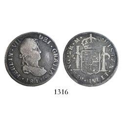Guatemala, bust 2 reales, Ferdinand VII, 1811M.