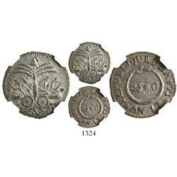 Haiti, 25 centimes, AN 13 (1816), encapsulated NGC MS 62.