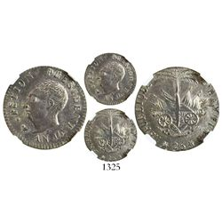 Haiti, 25 centimes, AN 14 (1817), President Petion, encapsulated NGC MS 62.