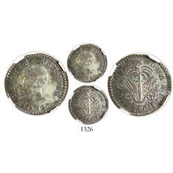Haiti, 25 centimes, AN 25 (1828), President Boyer, encapsulated NGC AU 58.