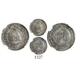 Honduras, 5 centavos, 1896/86, encapsulated NGC MS 62.
