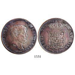Naples & Sicily (Italian States), 120 grana, Ferdinand II, 1854.