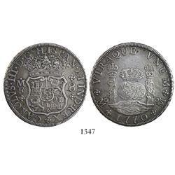 Mexico City, Mexico, pillar 8 reales, Charles III, 1770MF.