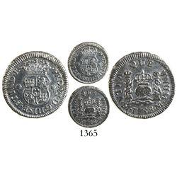 Mexico City, Mexico, pillar 1/2 real, Ferdinand VI, 1758M.