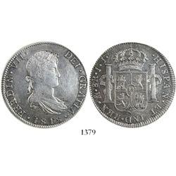 Mexico City, Mexico, bust 8 reales, Ferdinand VII, 1818JJ, encapsulated ANACS AU 53.