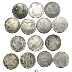 Lot of 7 Mexico City, Mexico, bust 8 reales, Charles IV and Ferdinand VII (including transitional),