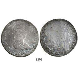 Durango, Mexico, bust 8 reales, Ferdinand VII, 1816MZ.