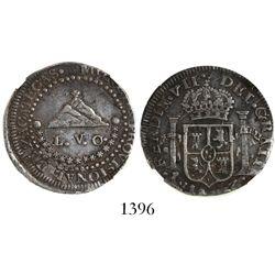 Zacatecas, Mexico, provisional 2 reales, Ferdinand VII, 1811, encapsulated NGC VF 35.