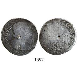 Zacatecas, Mexico, provisional 2 reales, Ferdinand VII, 1812.
