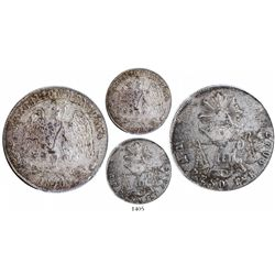 Guadalajara, Mexico, 1 peso, 1870C, encapsulated PCGS MS62, finest known.