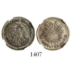 San Luis Potosi, Mexico, 10 centavos, 1869/7P, encapsulated NGC VF 35, rare.