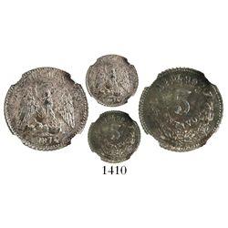 Alamos, Mexico, 5 centavos, 1874DL, encapsulated NGC MS 62.