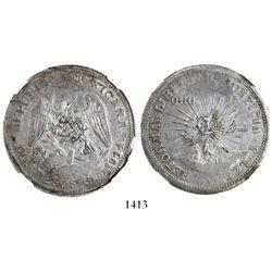 Guerrero (Zapata), Mexico, 2 pesos, 1914, encapsulated NGC AU 50.