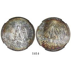 Mexico City, Mexico, 1 peso, 1927M, encapsulated NGC MS 63.