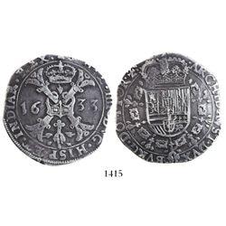 Tournai, Spanish Netherlands, patagon, Philip IV, 1633.