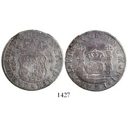 Lima, Peru, pillar 4 reales, Charles III, 1771JM.