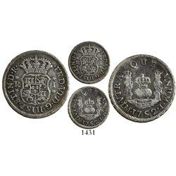 Lima, Peru, pillar 1 real, Ferdinand VI, 1752J, rare.