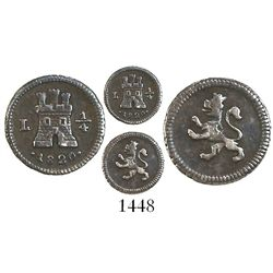 Lima, Peru, 1/4 real, 1820.