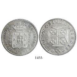 Portugal, 400 reis, Maria II, 1835.