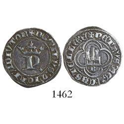 Burgos, Spain (Castile and Leon), 1/2 real, Pedro I (1350-69).