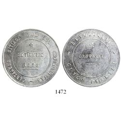 Cartagena (Cantonal Revolution), Spain, 5 pesetas, 1873.