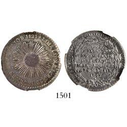 Lima, Peru, silver medal, 1849, San Martin, encapsulated NGC AU 55.