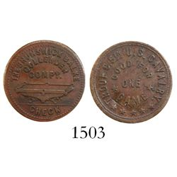 Puerto Rico, copper U.S. military token (1899), ex-Roehrs with original envelope.