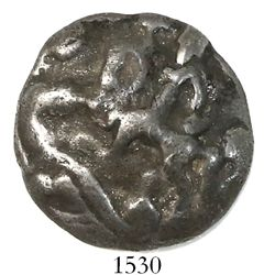 Lead or pewter button (heavy) showing St. George and the Dragon, ex-Lane (1983).