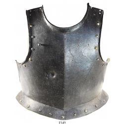 Spanish armor breastplate, 1600s.