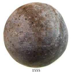 Large (rare) Spanish stone roundshot (cannonball) from a 1588 Spanish Armada site in the English Cha